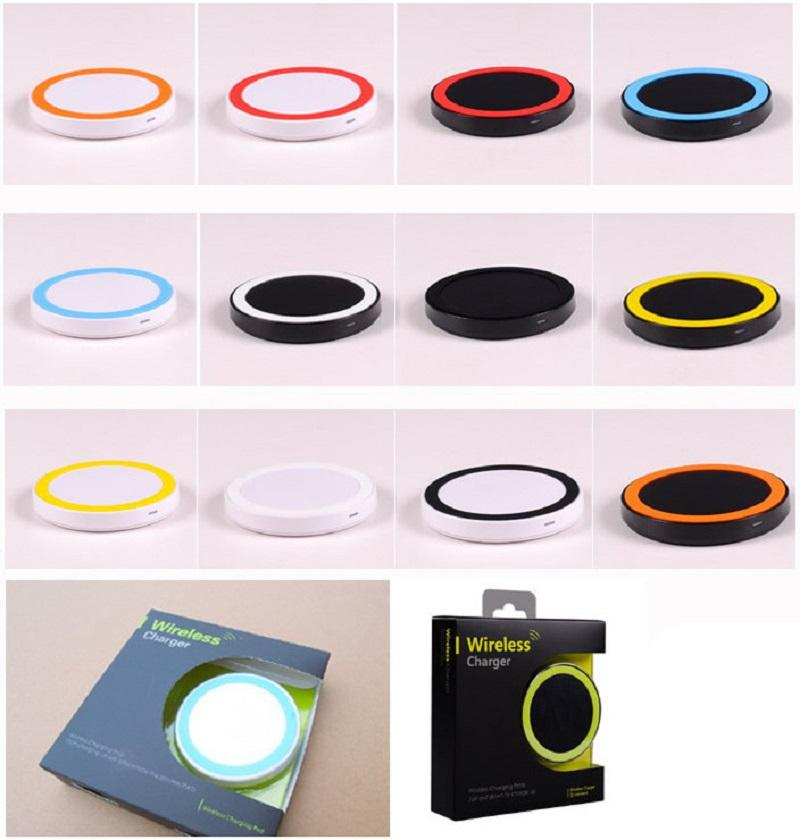 2017 Universal Qi Wireless Charger Good Quality Q5 Mini Charging Pad For Iphone Samsung nokia htc LG Qi-abled device Mobile Phone