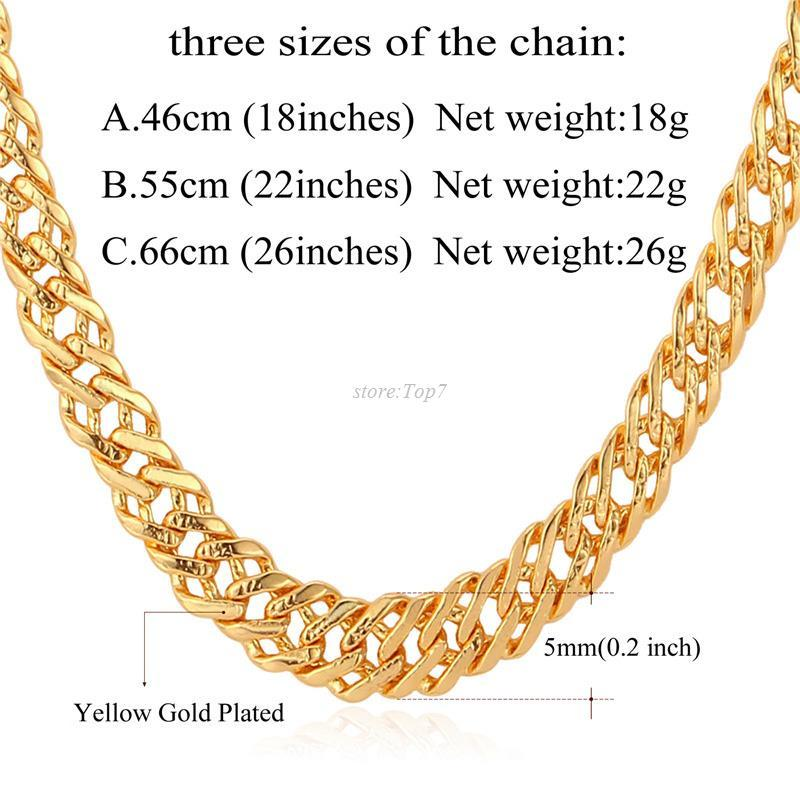 chain platinum men necklace hiphop mens gold thick for fashion l chains male