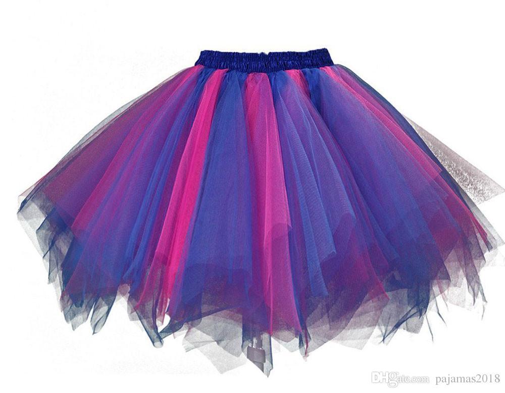 Compre Fushia Royalblue Falda Para Mujeres Disfraces De Halloween ...