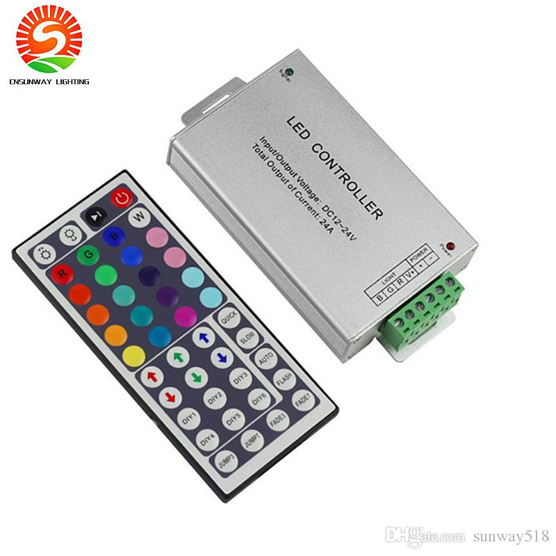 dc12 24v 24a 288w 44key ir remote led rgb controller for led stripcheap temperature controller thermostat best dimmable controller