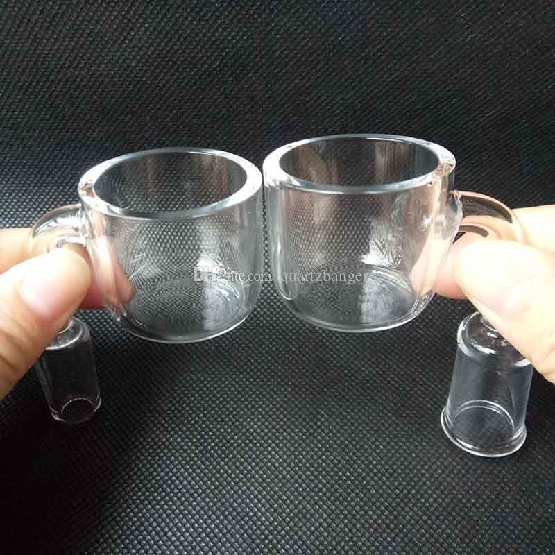 2017 XXL 35mm Big bowl 3mm thickness Domeless Quartz Bangers Nail Drip Tips 90 degree 10/14/19mm for Glass Bongs Smoking Water accessories