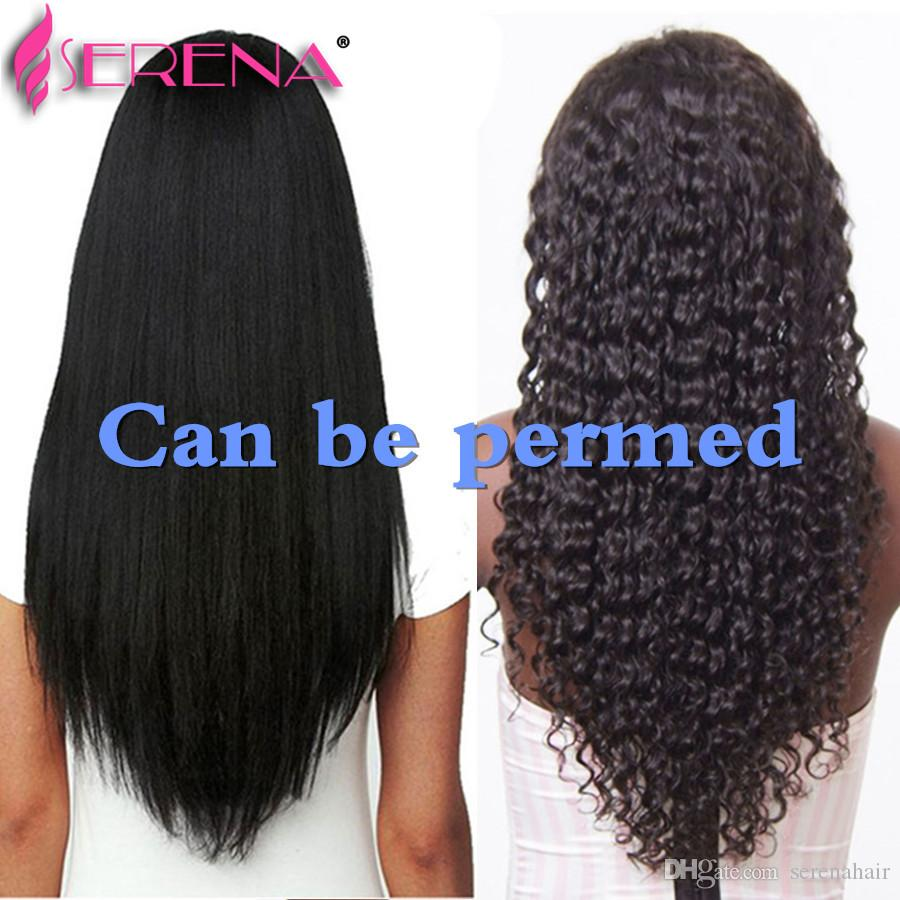 7A Brésilienne De Cheveux Vierges Bundle Pré 60 Épingles Frontale Avec Des Bundles Cheveux Raides Tisse 360 Fermeture Bébé Cheveux Extensions de Cheveux Noirs