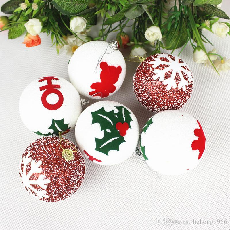 christmas tree ball with strings foam material xmas hanging ornament 8 cm fashion pendant novelty gift party supplies 7 8nq f r outdoor christmas ball