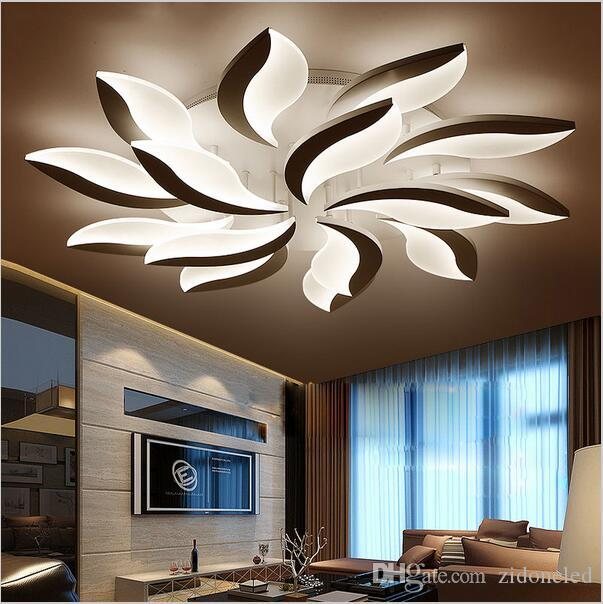 Ceiling Lights & Fans Square Led Ceiling Lights Living Room Bedroom Remote Control Lamparas De Techo Moderna Gold Coffee Frame Home Fixtures Ceiling Lights