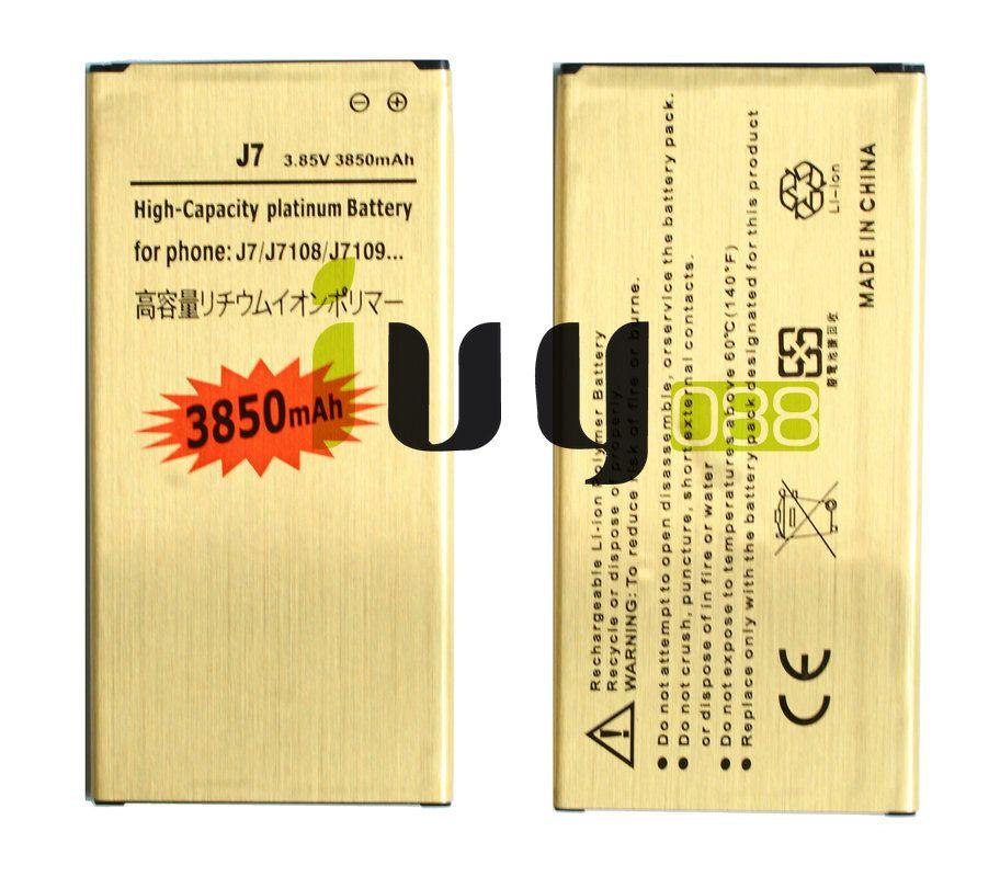 1X 3850mAh EB-BJ710CBC الذهب استبدال البطارية + شاحن عالمي ل2016 الطبعة سامسونج غالاكسي J7 J7108 J7109 SM-J708 J7008 J7009 J700F