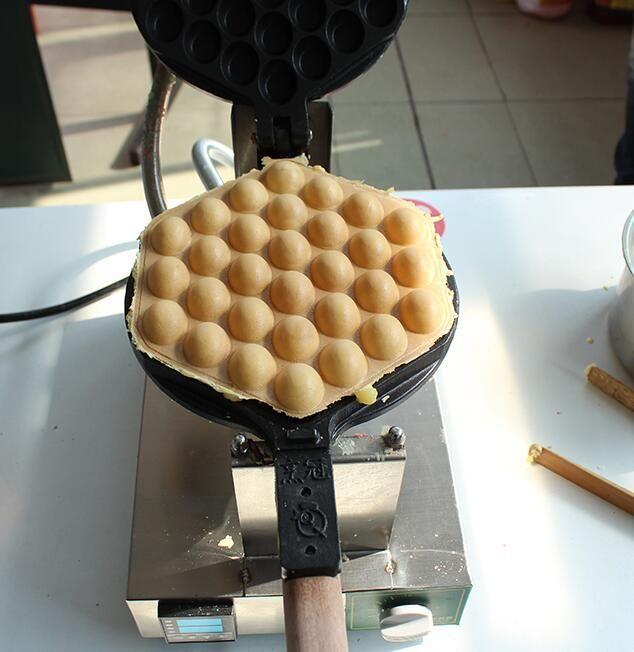 Kommerziell Smart Egg Waffel Maker Kleine Kücheneikuchen Maschine Waffelmacher Edelstahl mit Timer