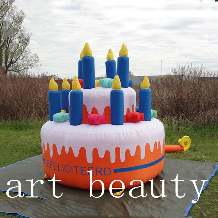 Inflatable Birthday Cake Giant Inflatable Cake For Birthday Party