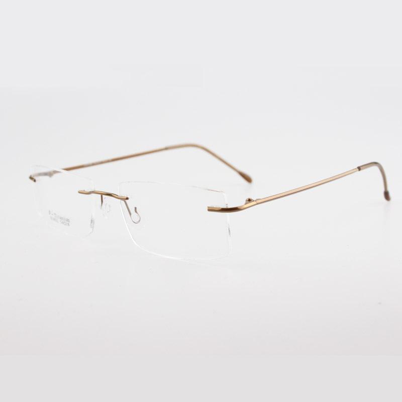 2018 Wholesale Chashma Brand Ultralight Titanium Rimless Myopia ...