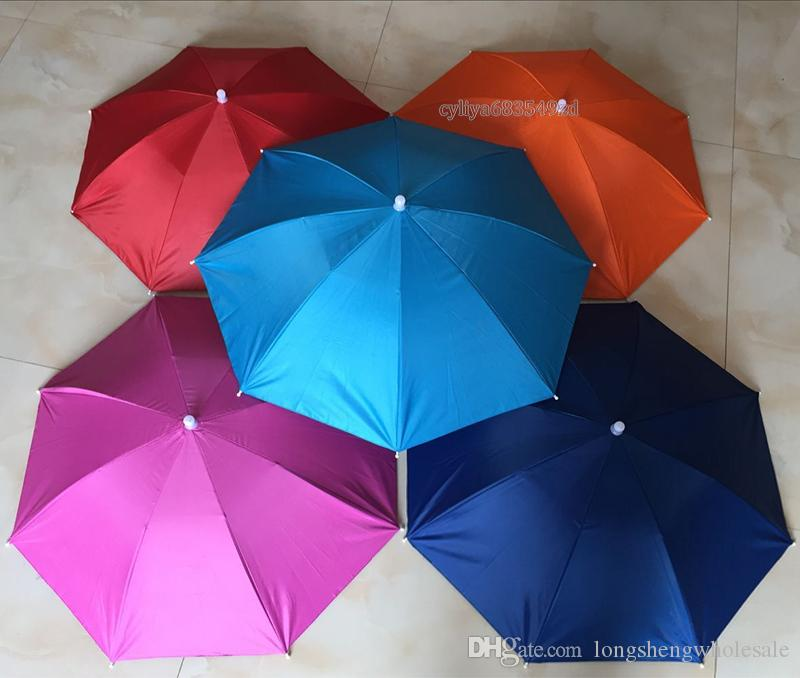 Fashion Hot Usefull Umbrella Hat Sun Shade Camping Fishing Hiking Festivals Outdoor Brolly