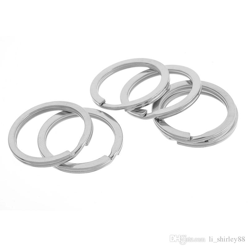 Silver Color Split Rings Key Rings 25x1.7mm High Quality DIY Accessories For Jewelry For Women Men New Arrival