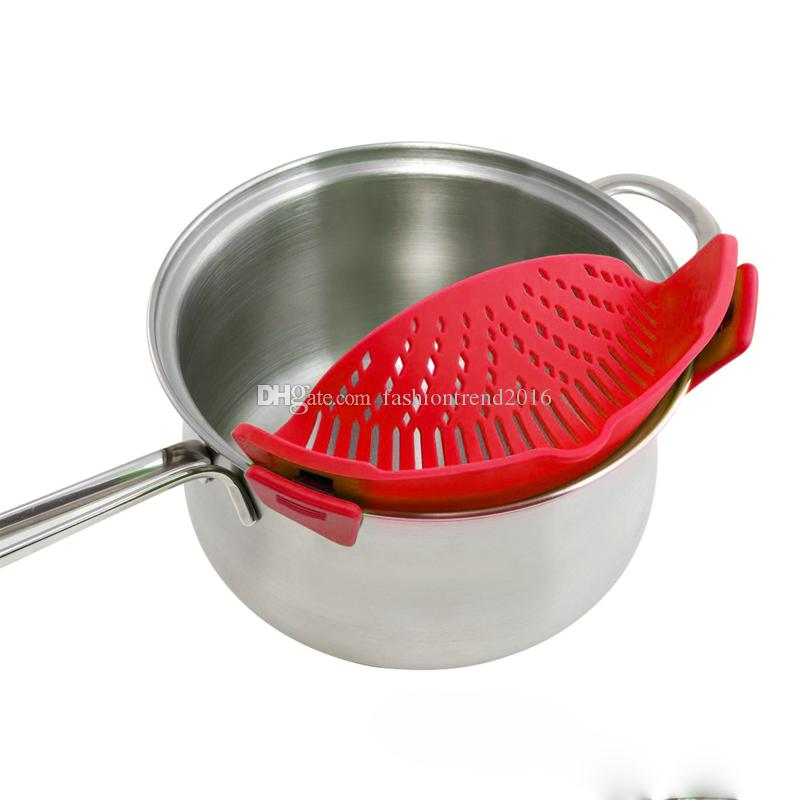 Silicona Multifunción Funnel Colador Pot Pan Bowl Cocción Lavado Colador de Arroz Accesorios de Cocina Gadgets de cocina Herramientas