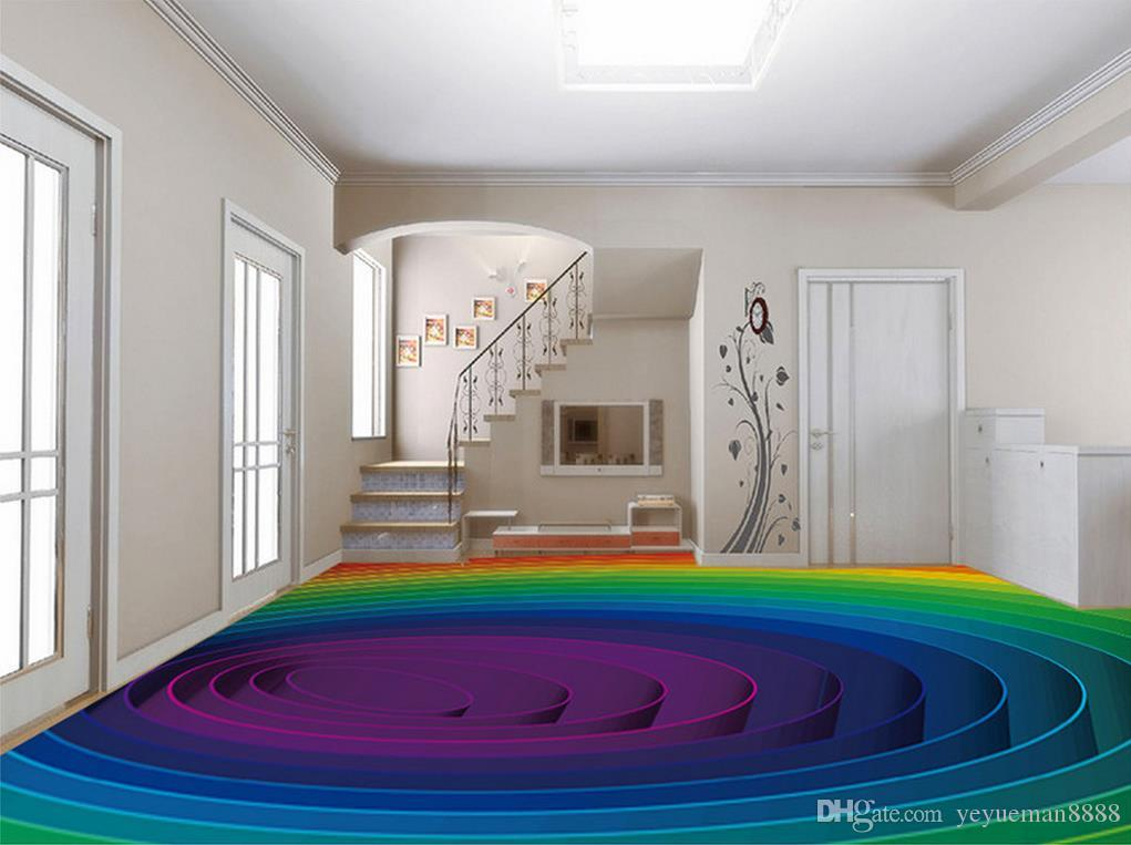 3d stereoscopic floor wallpaper Custom 3d floor photo wallpaper murals Vector color swirls living room wallpaper 3d floor murals