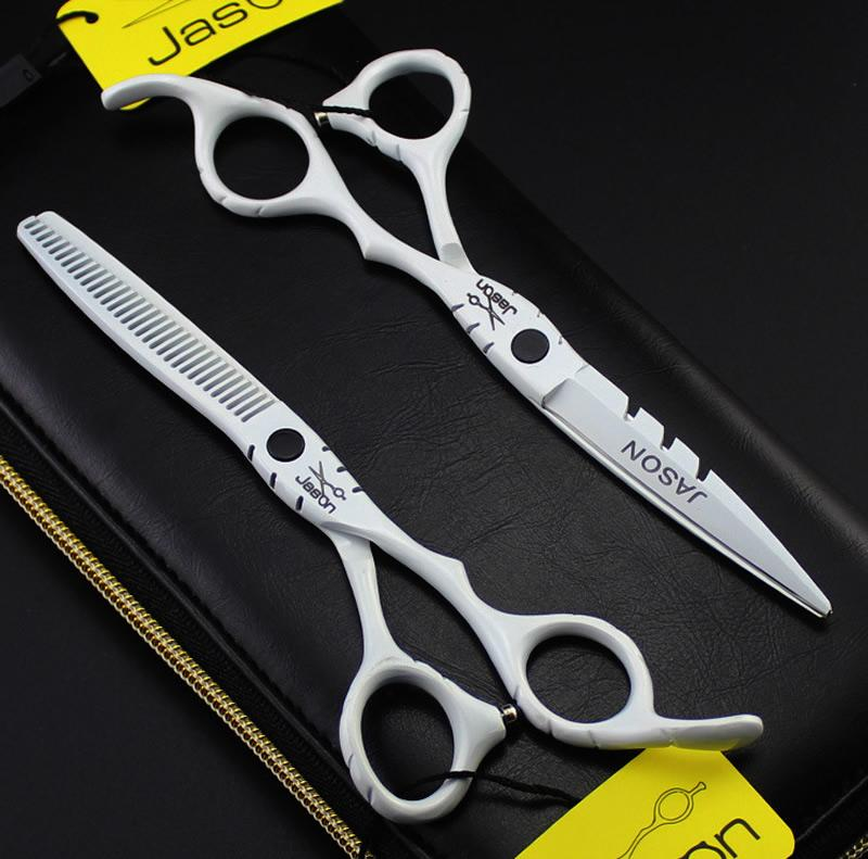 "5.5"" 6.0"" Jason JP440C Hair Shears Professional Hairdressing Scissors Kit Cutting Scissors with bag Barber Scissors Barber Tools,LZS0558"