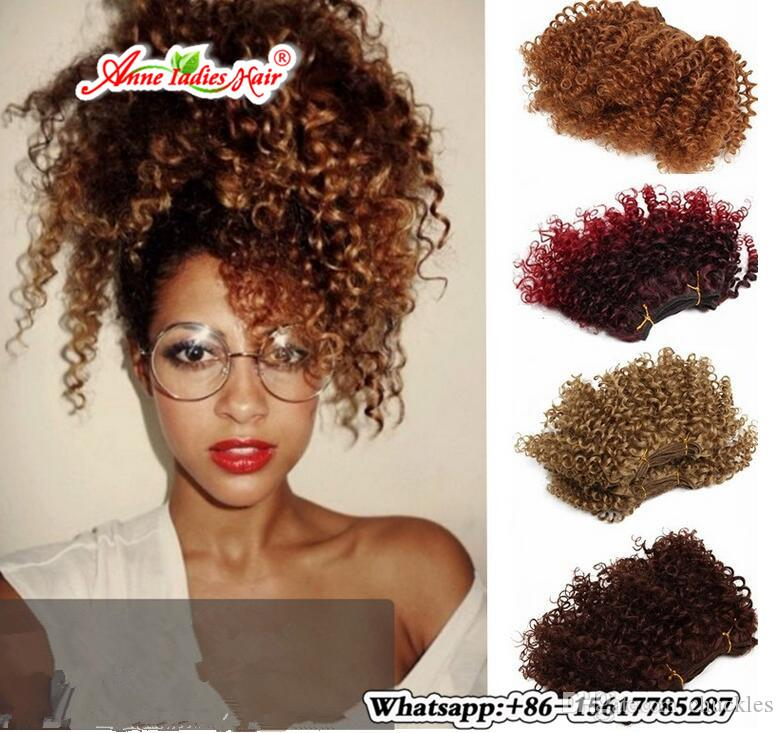 10inch Pack Curly Sew In Weave Hair Extensions Synthetic Hair