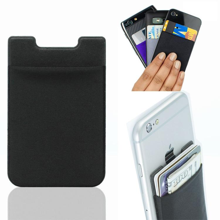 Soft Sock Wallet Credit Card Cash Pocket Sticker Adhesive Holder Organizer Money Pouch Mobile Phone 3M Gadget For iphone Samsung Back Case