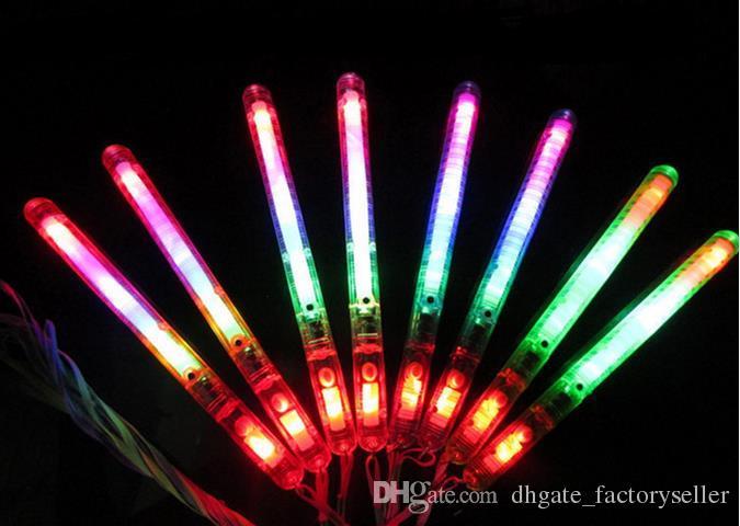 LED Flashing Night Light Multicolor Light-Up Blinking Rave Sticks Wand Glow Sticks Kids Toys For Concert Party XMAS Gift Birthday