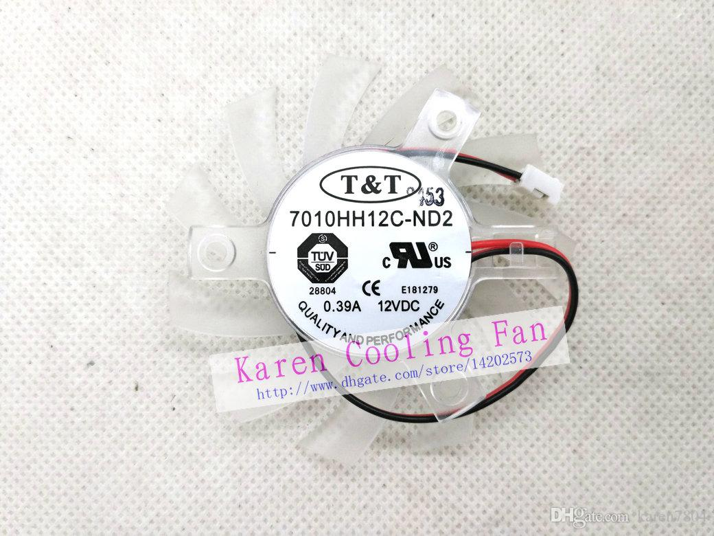New Original TT 7010HH12C-ND2 DC12V 0.39A 70*10MM pitch 40MM Graphics card cooling fan