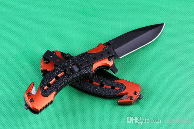 AÇO FRIO HY216 216 Titanium Tactical Faca Dobrável 7Cr17Mov 57HRC Punho De Alumínio Camping Caça Sobrevivência Bolso Faca de Utilidade Militar