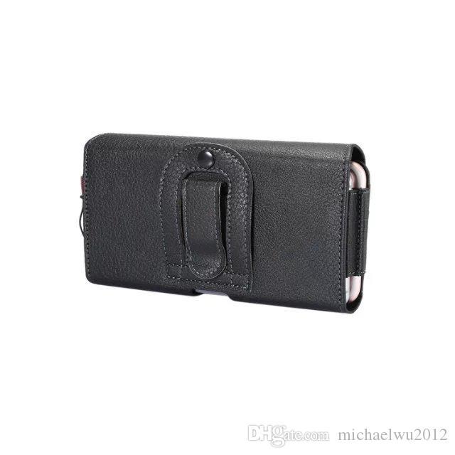 2 Slot New Black Universal Holster clip da cintura PU sacchetto di cuoio del telefono delle cellule del sacchetto della copertura della cassa il LG P940 P970 P925 P993 P930