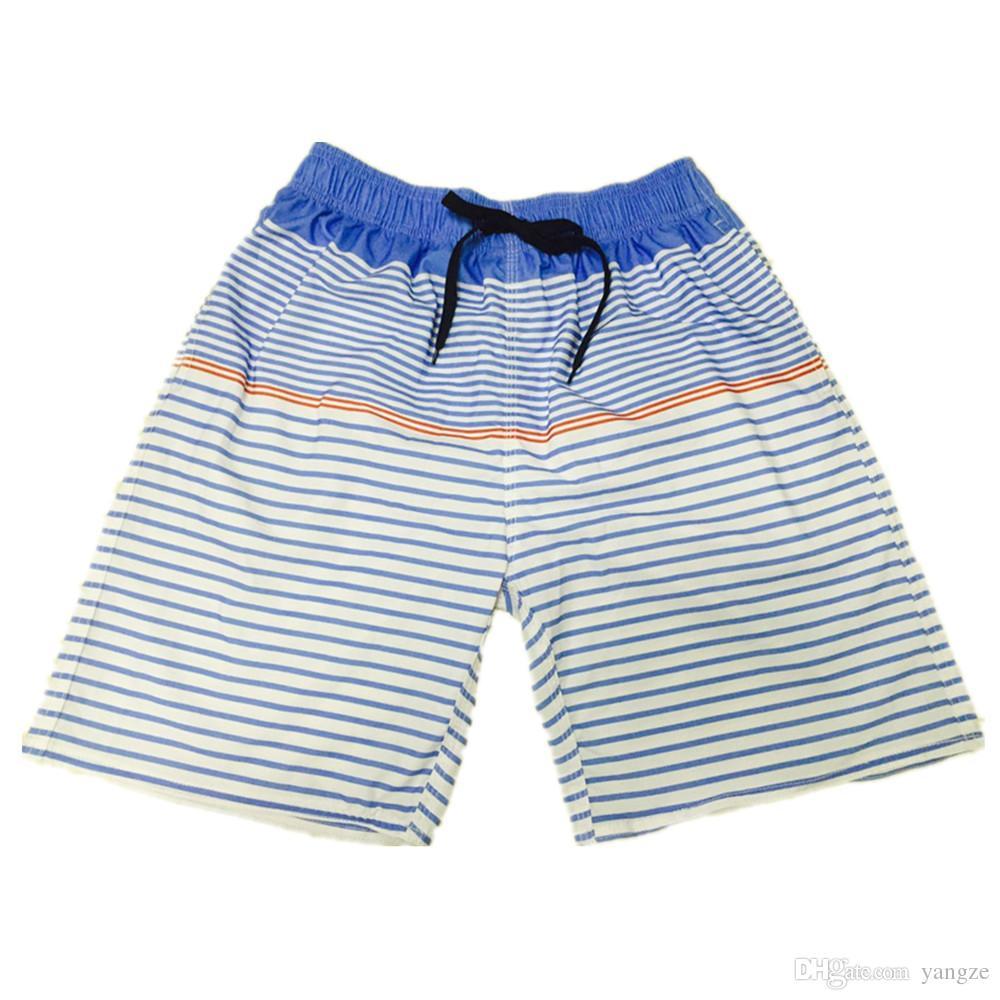 942ac964a521 2019 High Quality Quick Dry Surfing Sport Pants Striped Men S Boardshorts Summer  Swim Beachwear S M L XL Blue Green QT6057 From Yangze