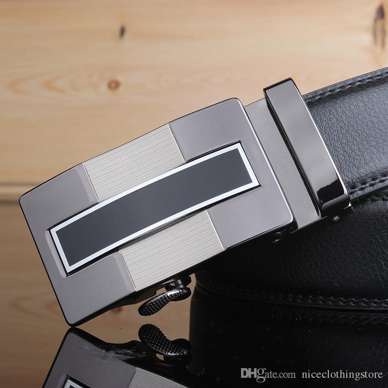 Modedesigner Herrengürtel für männliche Echtlederbänder männliche Automatikschnallen authentischer Gürtel