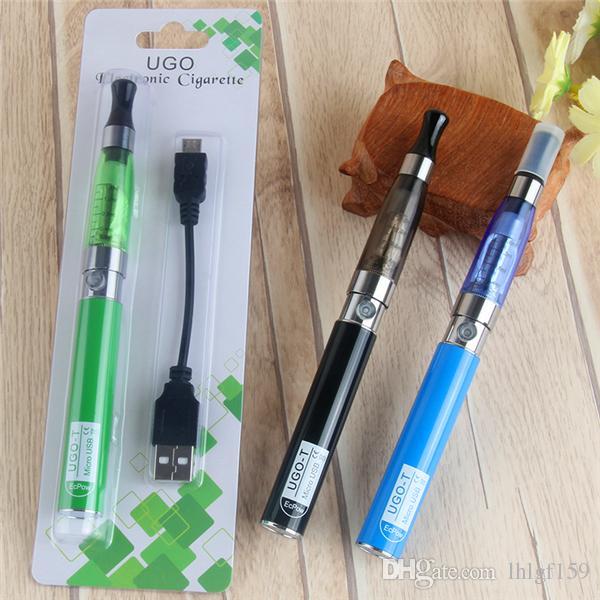 Ego UGO starter kits CE4 atomizer Electronic cigarette e cig kit 650mah UGO-T USB Passthrough battery blister case Clearomizer E-cigarette