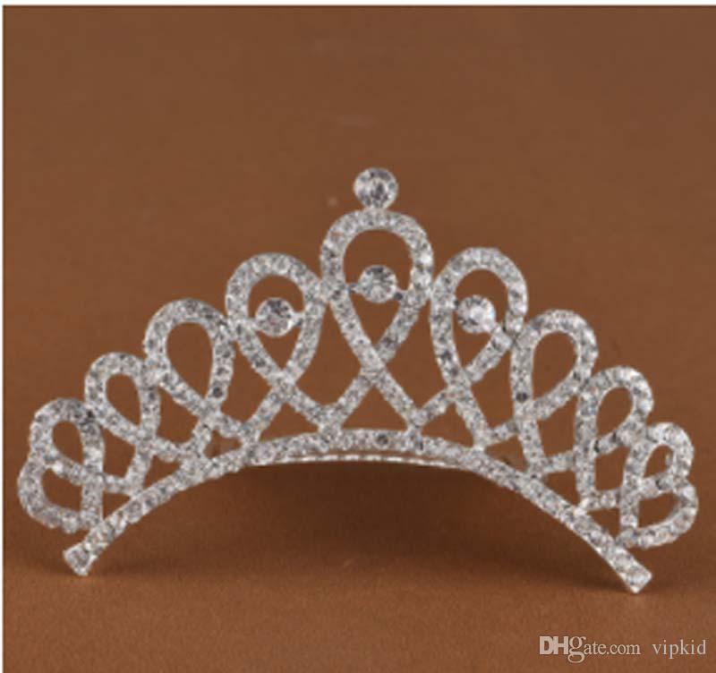 Show princess Crown Princess combs Mini Twinkle Rhinestone Diamante Bridal Princess Crown Hair Comb Hair Clip Tuck Tiara Party Wedding