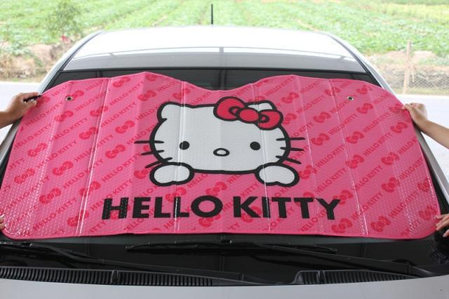 Wholesale Cartoon Cat Car Front Window Sunshade Sunshades Auto Windscreen Solar Shade Windshield Cover For