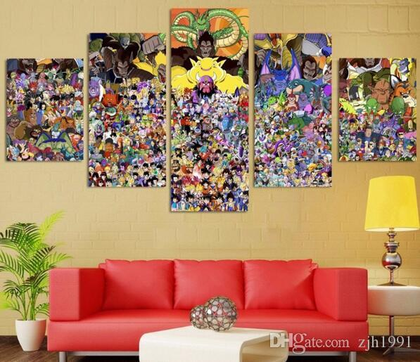 Canvas Wall Art Painting Cartoon Dragon Ball Modular Art Picture For Children Living Room Posters Prints Home Decor