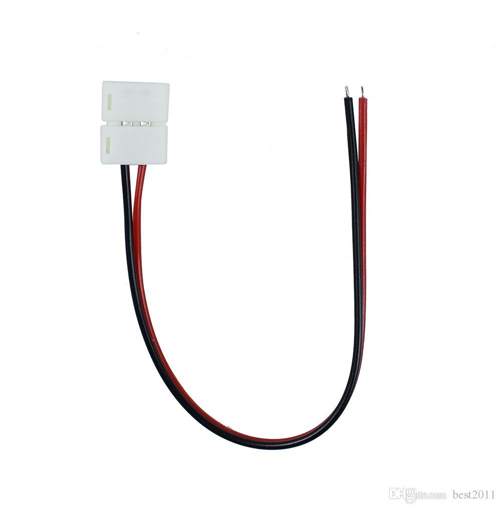 Connettore a striscia LED pin 10mm / pin 8mm con connettore saldatura a filo libero 5050 3528 3014 2835 LED Strip Light