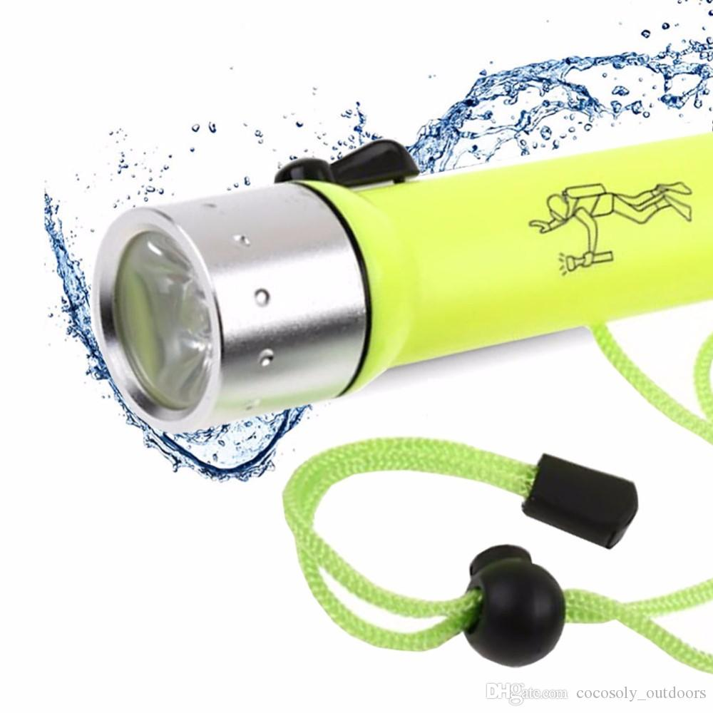 Underwater Diving flashlight LED Lanterna 800 Lumens Q5 LED Waterproof Dive Torch Light Linternas led flashlight for Diver