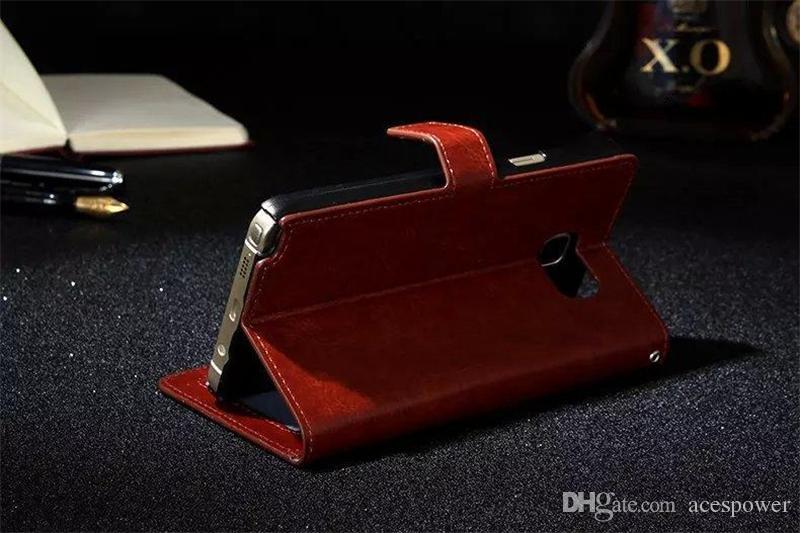 محفظة بو غطاء حقيبة جلدية القضية مع فتحة بطاقة إطار الصورة لفون برو 11 ماكس XR سامسونج غالاكسي ملاحظة 10 S20 زائد