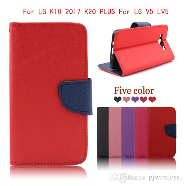 lg k10 colors. cool wallet case for lg k20 plus k10 2017 v5 lv5 x400 m250n metropcs flip pu leather phone cover cell pouch personalized cases colors