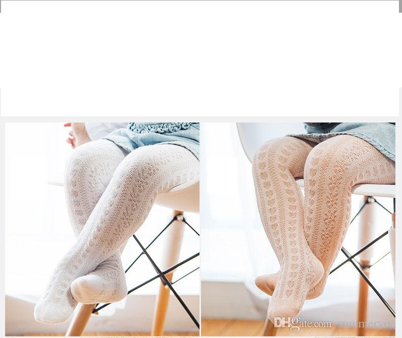 Kids pantyhose baby girls lace hollow leggings kids cotton soft tights 2017 spring new girls princess leg children cotton bottoms A0583