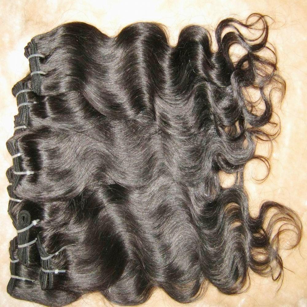 Продвижение продуктов для волос самые дешевые обработанные 100% человеческие волосы волосы волна бразильского расширения WEFTS 9 пучков / лота быстрая доставка
