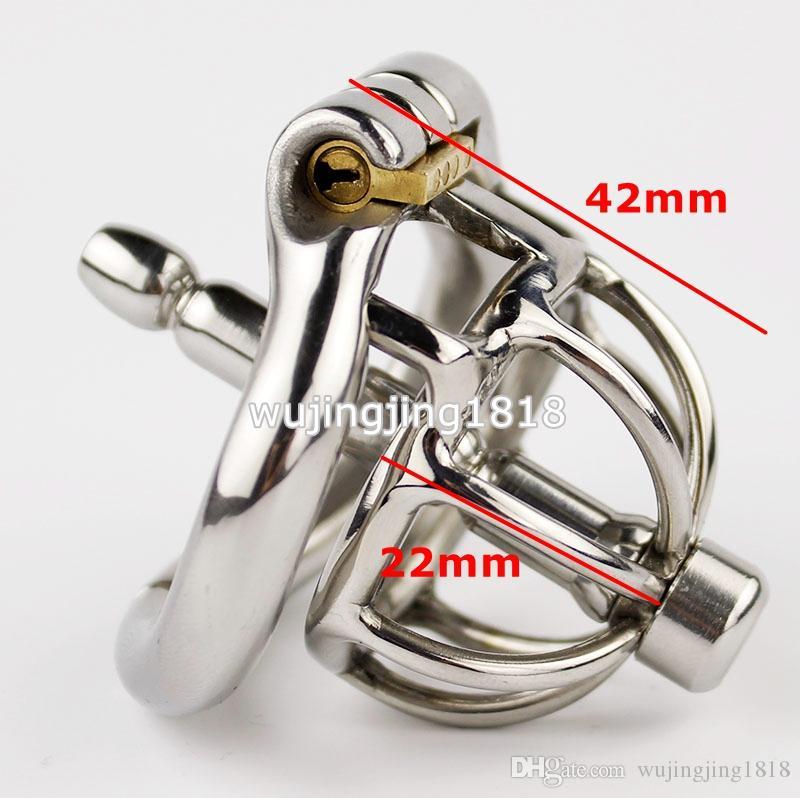 Новый дизайн 42 мм Длина из нержавеющей стали супер маленький мужской целомудрие устройство с уретры звуки катетер 1.65