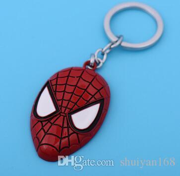 Superhero Avengers Key Chain Bag Hangs Key Rings Toys Iron Man Superman Spiderman Keyrings Zinc Alloy Gift for Children DHL Free