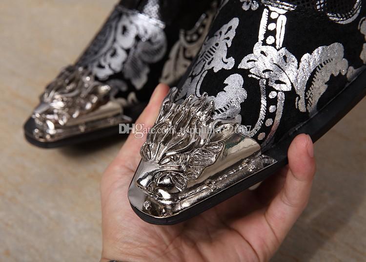 Usine Vendeur Nouveau Mode Shinny Glitter Hommes en Cuir Oxford Costume Chaussures De Mariage De Mariage Classique hommes robe chaussures taille 46 US12