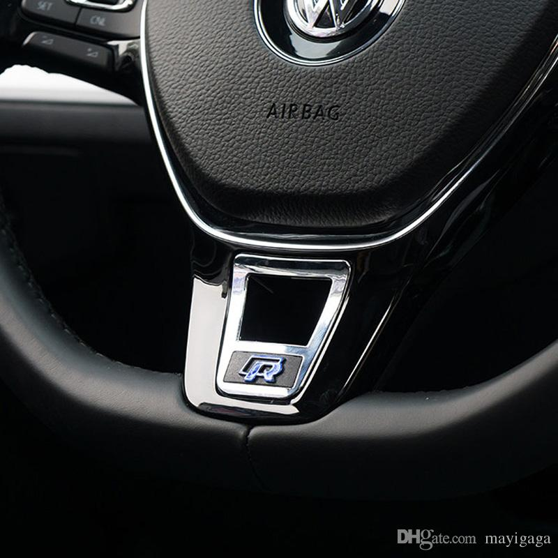 2019 Aluminium Alloy R Rline Logo Steering Wheel Sequin