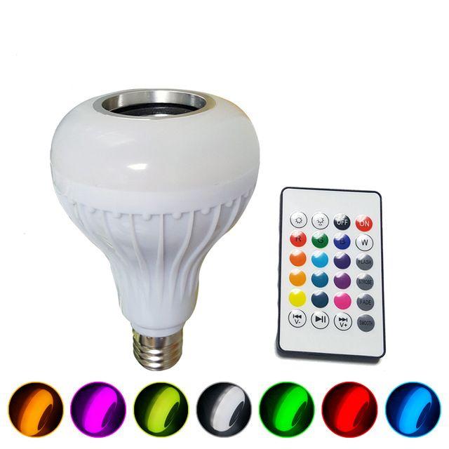 Drahtlose Bluetooth-Lautsprecher-Birnen-Musik, die energiesparende helle Lampe des Licht-RGB Soptlight E27 LED mit Fernbedienung spielt Freies Verschiffen