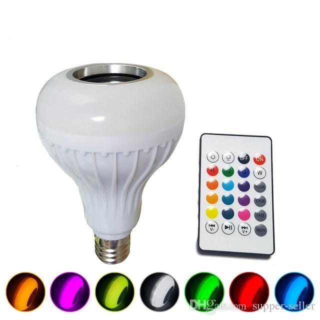 Wireless Bluetooth Speaker Bulb Music Playing Energy Saving RGB Soptlight E27 LED Light Lamp With Remote Control