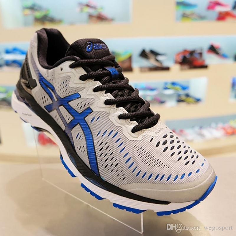 c01d5ae2 2018 Wholesale Price New Style Asics Gel-kayano 23 Running Shoes For Men  Original Sneakers Athletic Sport Shoes Size 40-45 Free Shipping