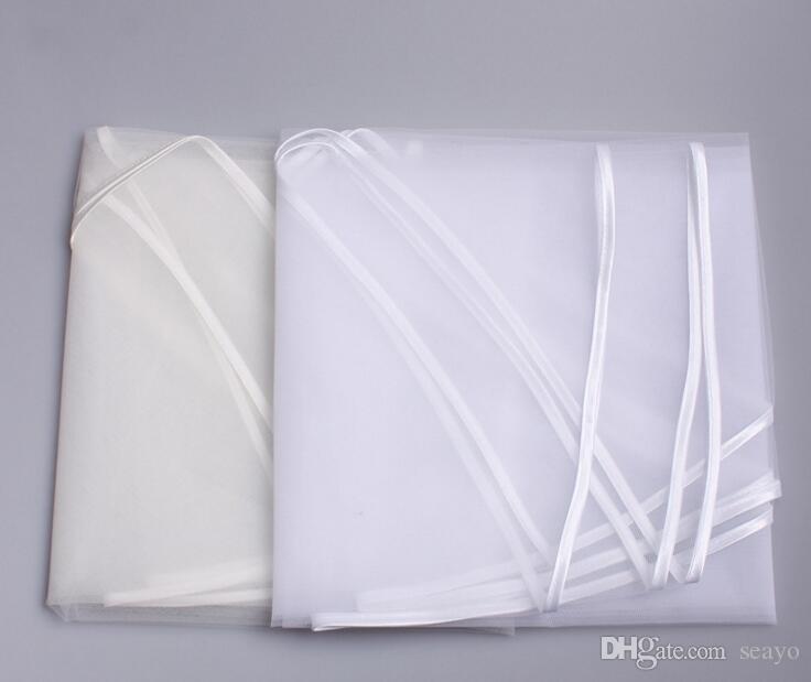 Véu novo para o vestido nupcial do vestido de casamento com o tamanho branco 150 * 100 da borda da fita do comprimento do ELbow do marfim da um-camada do pente
