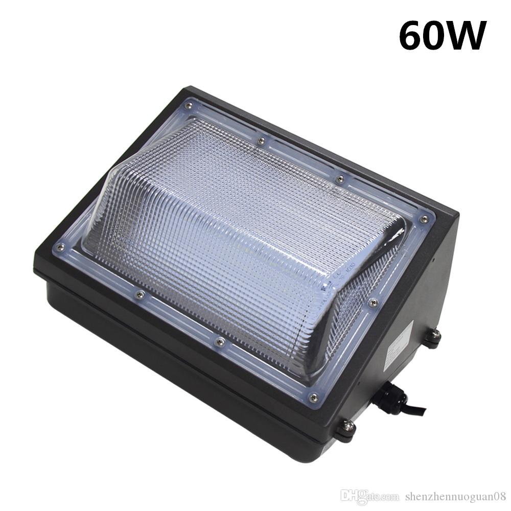 60w Led Wall Pack Light Fixture Replace 150w Mount Outdoor Aluminum Metal Halide Area Flood Lights 50w Floodlight From