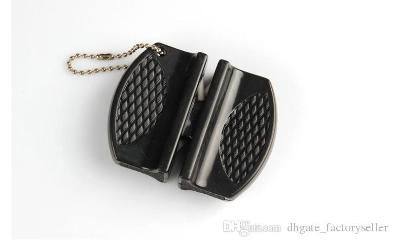 Мини - быстрые точилки карманный карбид вольфрама керамический стержень нож точилка двойной ПАЗ и портативный дизайн горячей продажи