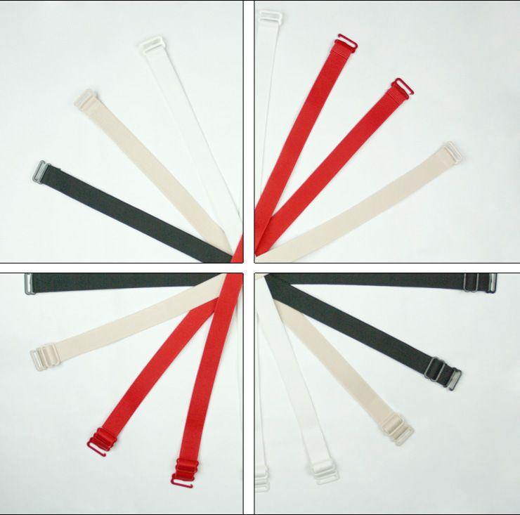 Reggiseno convertibile da donna Cinghie da 1,0 cm Regolabile elastico morbido Tracolla Intimates Accessori reggiseno 120 paia / lotto