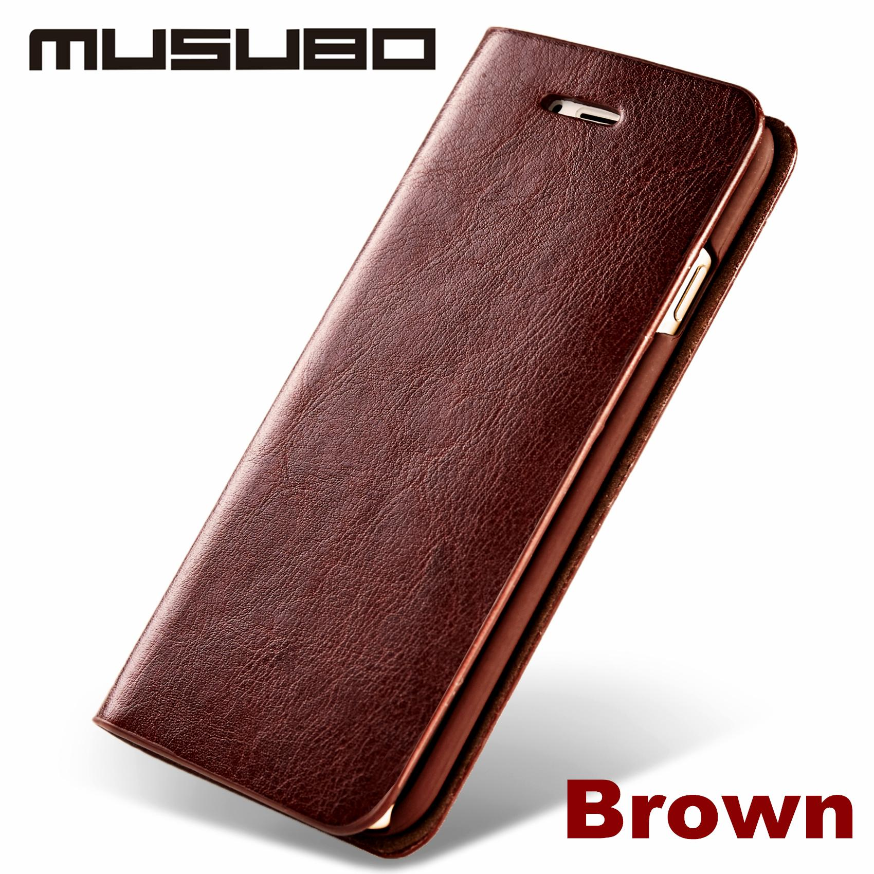 New Genuine Real Leather Case For Apple 7 Plus Iphone 6s Plus Luxury Phone Cases Iphone 6 Cover Iphone 5 5s Se 4 With Card Slot Flip Holster Cell Phone