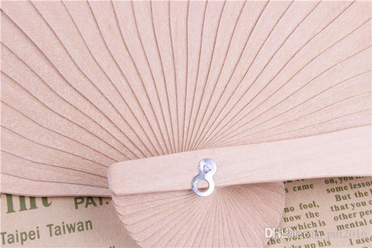 Fans nupciales para bodas Fans chinos de madera Accesorios nupciales hechos a mano 8 '' Fancy Boda barata Favores Pequeños regalos para invitados Damas Hand Fans