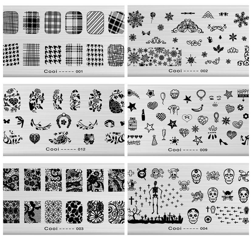 Wholesale Nail Stamping Plates For Nail Art Templates New Arrival ...