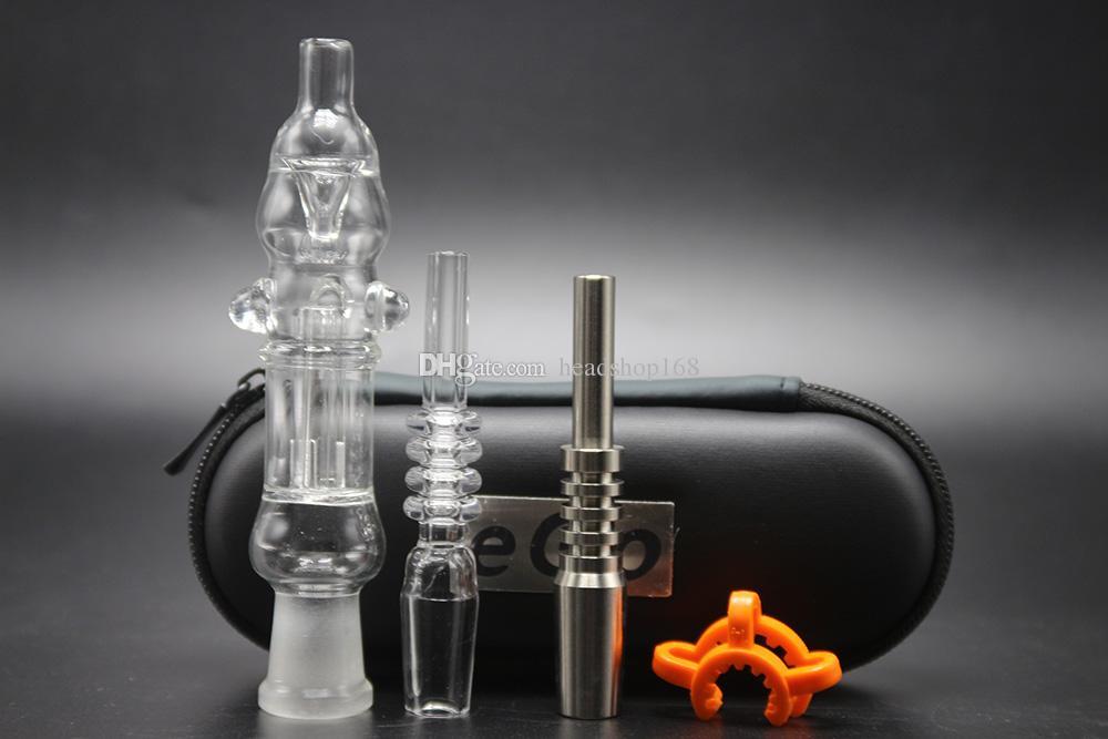 CSYC palha com 10mm 14mm joint titanium unha quartzo prego tubos de vidro plataforma de petróleo tubos de bongos concentrar a palha frete grátis